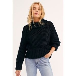 My only sunshine black chunky sweater